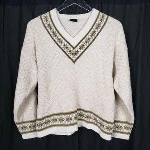Alpaca Nordic Snowflake Pullover Sweater